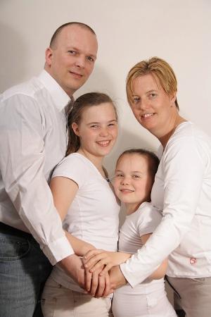 Erwin, Sanne, Mandy en Christa