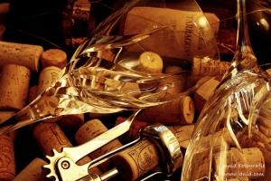 Wijnglazen op kurken